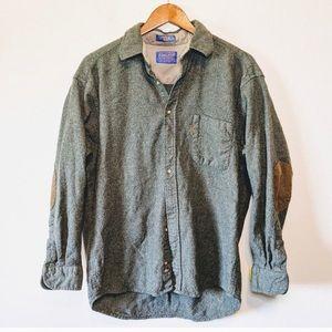 Pendleton Vintage Green Wool Button Down